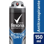Desodorante Aerosol Rexona Men Active Dry