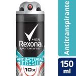 Desodorante Aerosol Rexona Men Antibacterial Fresh