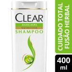 Shampoo Clear Women Anticaspa Fusão Herbal Cuidado Total