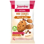 Mini Cookies Jasmine Integral Avelã com Gotas de Chocolate