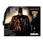 Kit Aparelho de Barbear Gillette Proshield Liga da Justiça + Fusion Gel