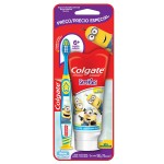 Kit Escova Dental Colgate Minions + Gel Dental
