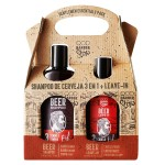 Kit Shampoo QOD Barber Shop 3 em 1 + Leave-In