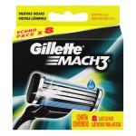 Lâminas para Aparelho de Barbear Gillette Mach 3 Regular
