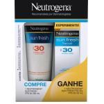 Kit Protetor Solar Neutrogena Sun Fresh PFS30 + Protetor Facial FPS30
