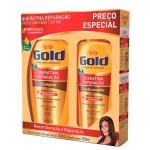 Kit Shampoo + Condicionador Niely Gold Queratina Reparação