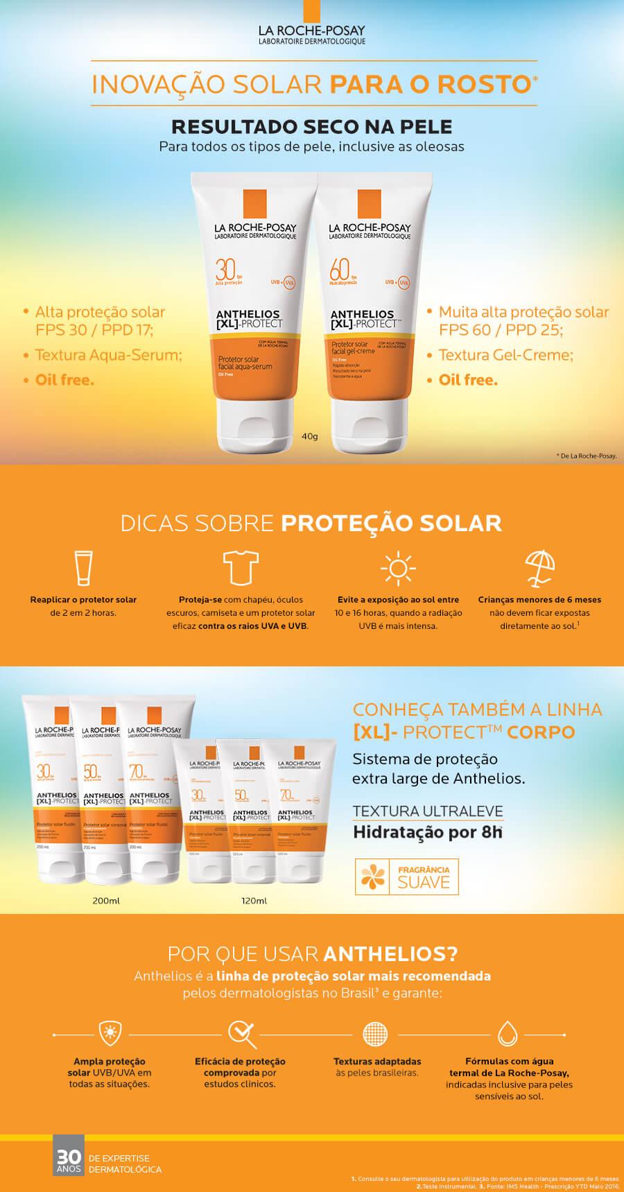 Protetor Solar Facial La Roche Posay Anthelios XL FPS60